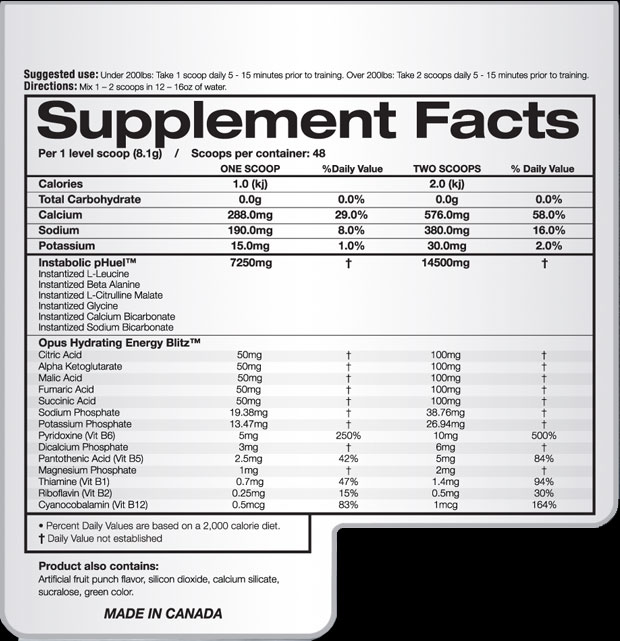 opus supplementfacts