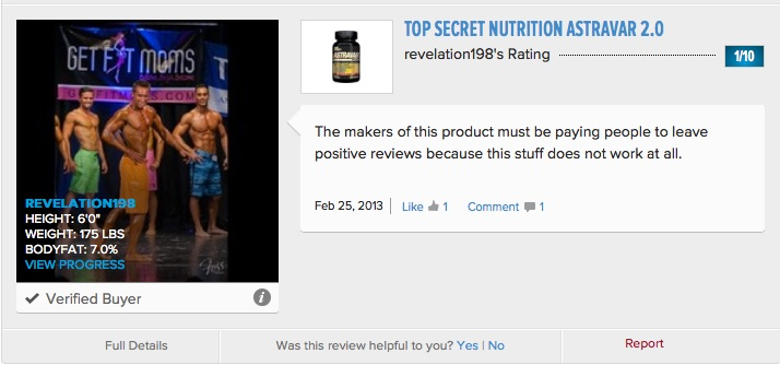 Top1_Secret_Nutrition_Astravar_2_0_Reviews_-_Bodybuilding_com